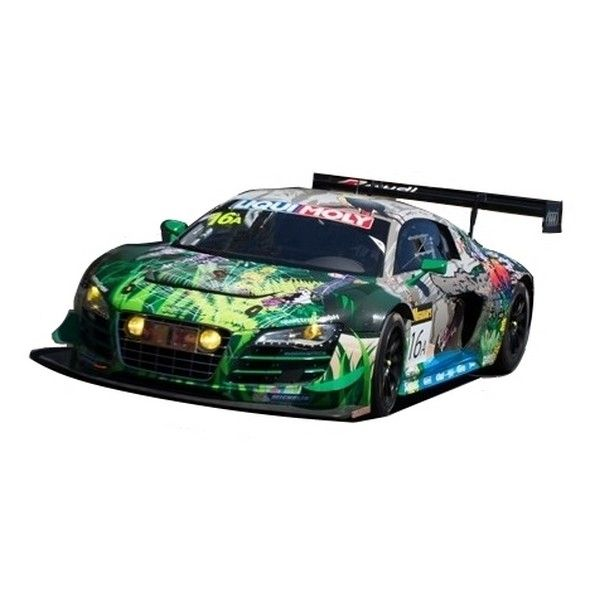 """1:18 scale Spark Felix Baumgartner, Stéphane Ortelli and Christoper Haase #16A """"Crocodile"""" Audi R8 LMS GT3 2015 Liqui-Moly Bathurst 12 Hour. This is a sealed resin model, it has no opening parts."""