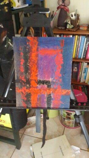 Happy.   Acrylic Abstract on canvas by Nika