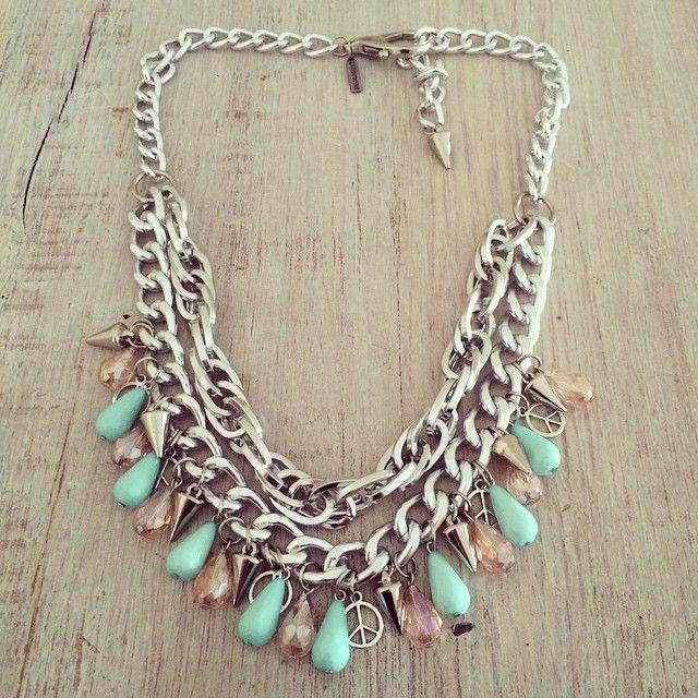 Collar Mint!  no puede ser mas lindo! ️️Shop Now: www.laquedivas.com.ar     ️Suma Laquedivas a tu Local: info@laquedivas.com.ar