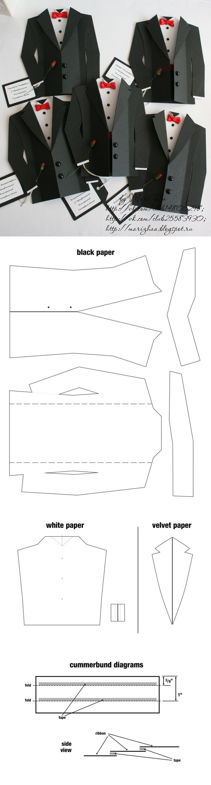 suit and tie template/card