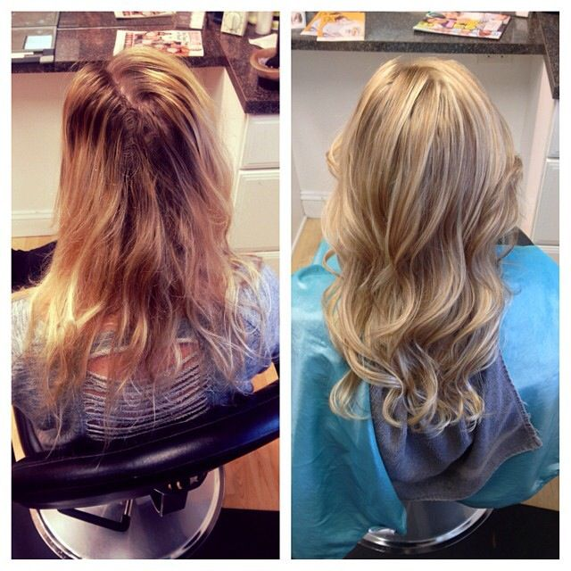 Blonde Highlights Before And After Wella Hair Blondor