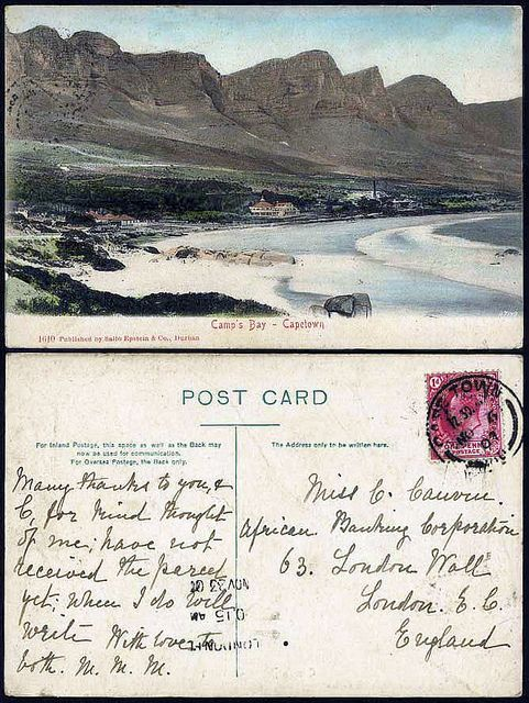 Camps Bay Post Card possibly 1907| Flickr - Photo Sharing!