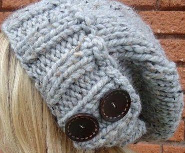 Easy Beret Knitting Pattern Straight Needles : Slouchy Hat Knitting Pattern Easy Instructions make by Shelleden, USD3.25 Kni...