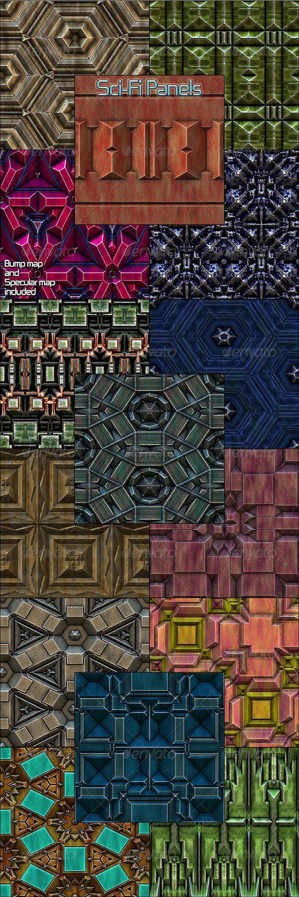 Sci Fi Panels Seamless Patterns Patterns Backgrounds