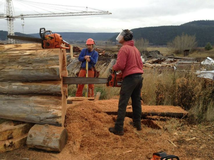 Mark had to use his massive 60 lb. chainsaw to create space for a gas line in the center of the torch.