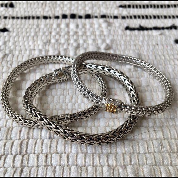 John Hardy Jewelry - John Hardy silver & yellow sapphire bracelets