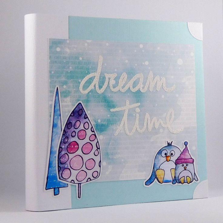 Tuto mini album hiver - Miaoups Créations