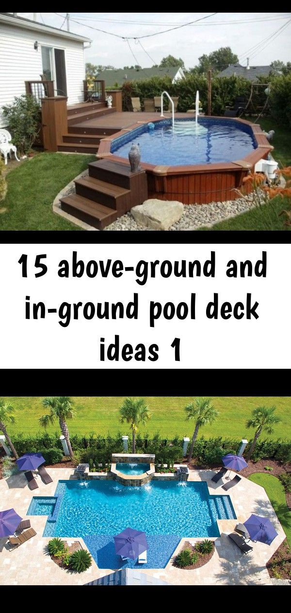 15 Above Ground And In Ground Pool Deck Ideas 1