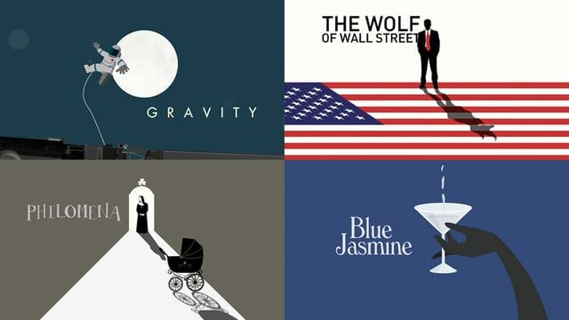 The 1 minute sequence shows a series of custom animated illustrations and transitions from the film Gravity, Before Midnight, Blue Jasmine, 12 Years A Slave, The Wolf of Wall Street, Philomena and Nebraska.  Client: Charlie Rose Creative…