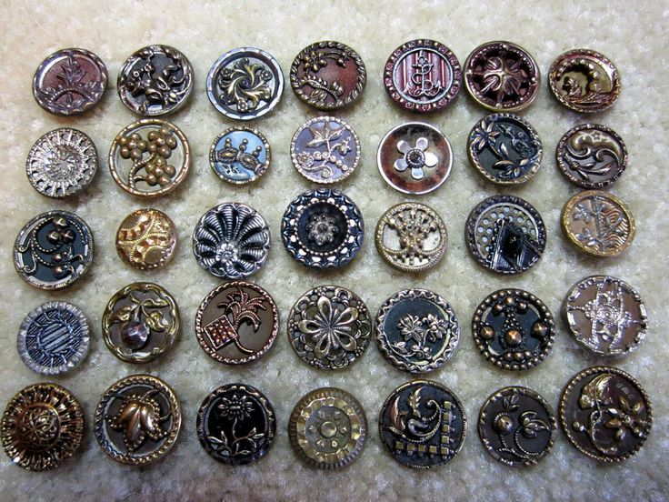 COLLECTION OF SMALL ANTIQUE / VICTORIAN ERA METAL BUTTONS