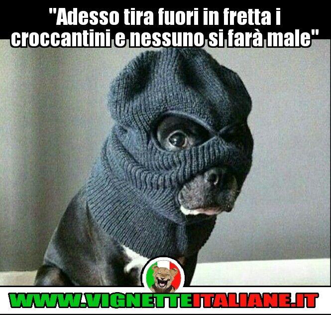 """""""Adesso tira fuori in fretta i croccantini e nessuno si farà male"""" :D (www.VignetteItaliane.it)"""
