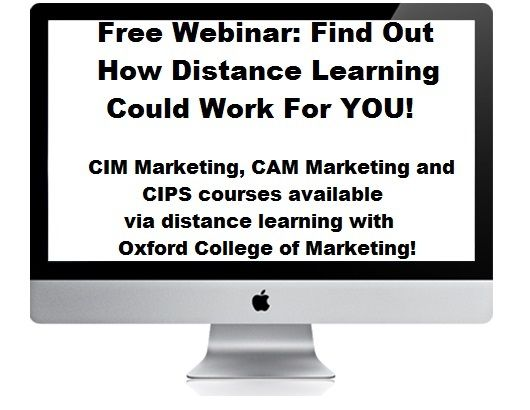 Distance Learning with Oxford College of Marketing – Free Information Webinar – 6/2/14 @ 1PM GMT