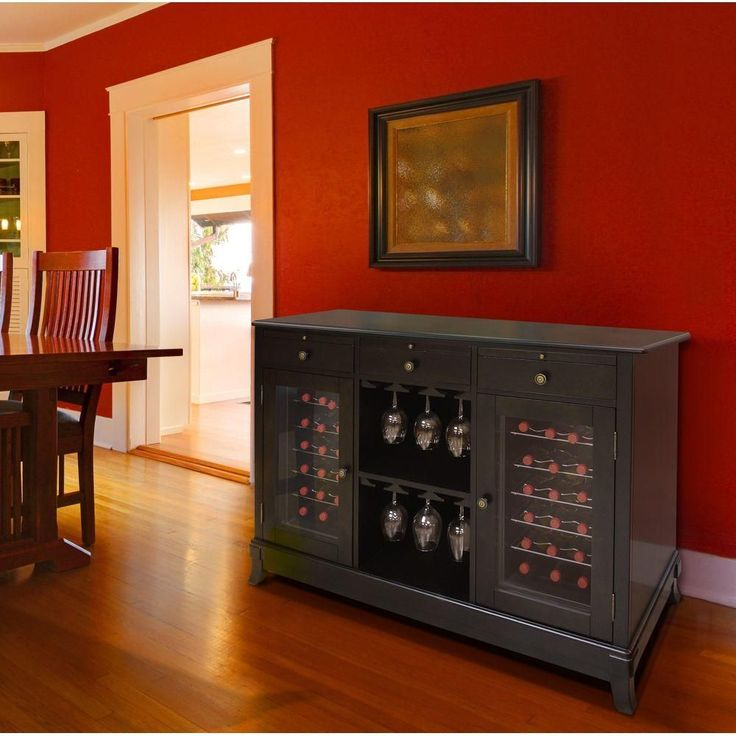 Features of this premium wine cabinet include three pull-out service shelves, dual thermoelectric cooling systems, a wooden exterior in a rich espresso finish, dual-paned glass doors and soft interior lighting to beautifully display your favorite wines.