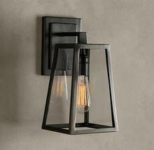 Lampe de mur de fer minimaliste moderne chambres et éclairage extérieur créative rétro salon lampe de chevet allée(China (Mainland))