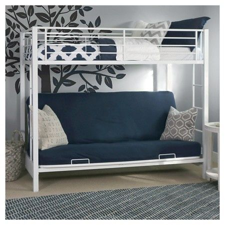 Walker Edison Futon Bunk Kids Bed - White (Twin/Full) : Target
