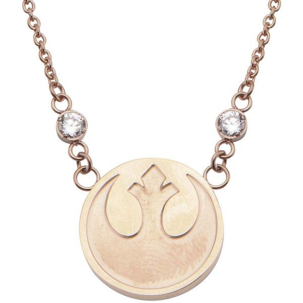 Star Wars Stainless Steel Rebel Alliance Symbol Pendant Necklace ($83) ❤ liked on Polyvore featuring jewelry, necklaces, long necklace pendant, curb chain necklace, long pendant, long pendant necklace and stainless steel jewelry