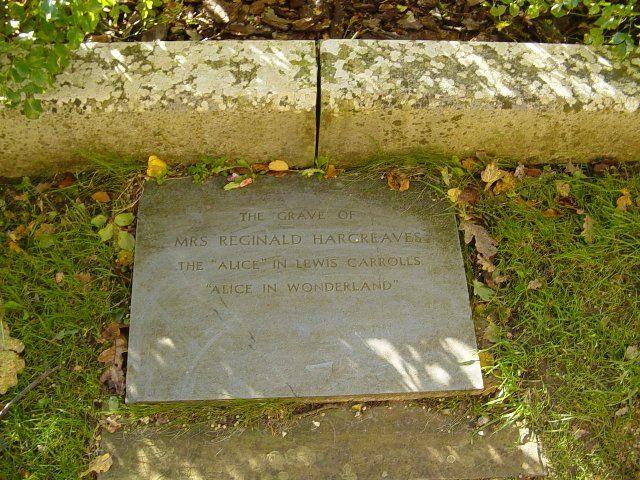 Memorial plate of Alice Liddell