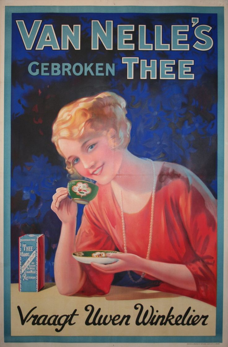 Van Nelle's Gebroken Thee - Dutch advertising tea poster (1920)