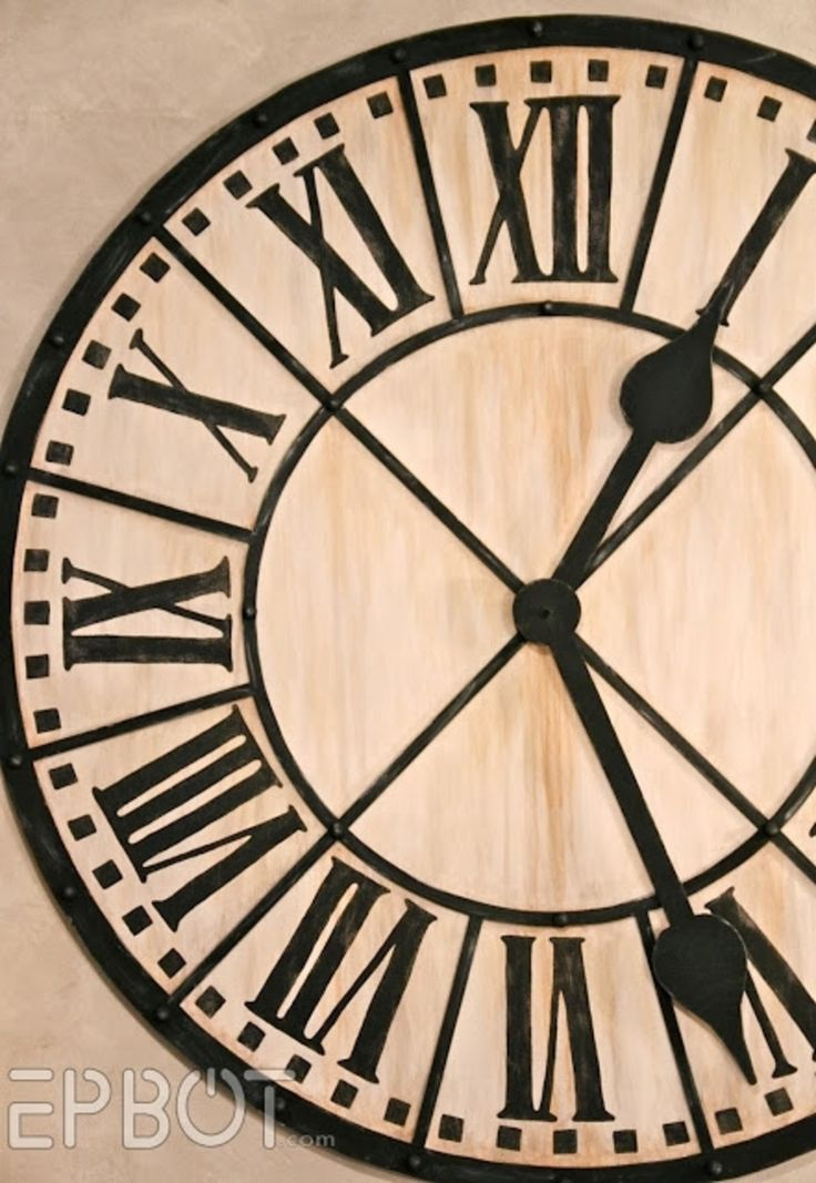 9 #Incredibly Fantastic DIY Large Wall Clocks ...