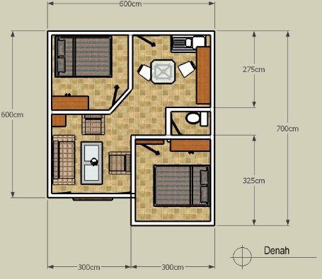 Denah Rumah Minimalis lantai 1