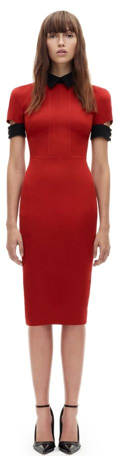 Victoria Beckham ... the power dress ... in red and black