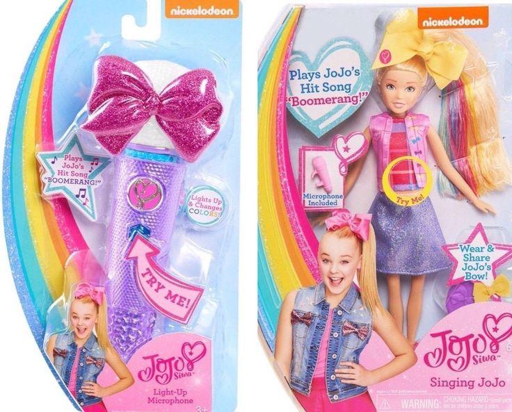 New Jojo Siwa Lot Singing Doll Amp Pretend Microphone Plays