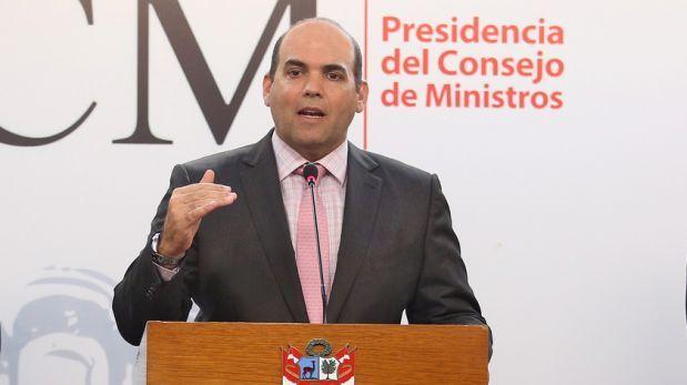 El presidente del Consejo de Ministros, Fernando Zavala:  Procuradoría ha iniciado investigación a Ministro Vizcarra sin fundamento y basándose en dos fotos.