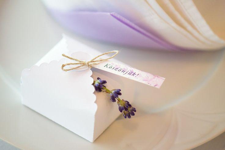 Ani&Szili wedding - lavender decoration - favor