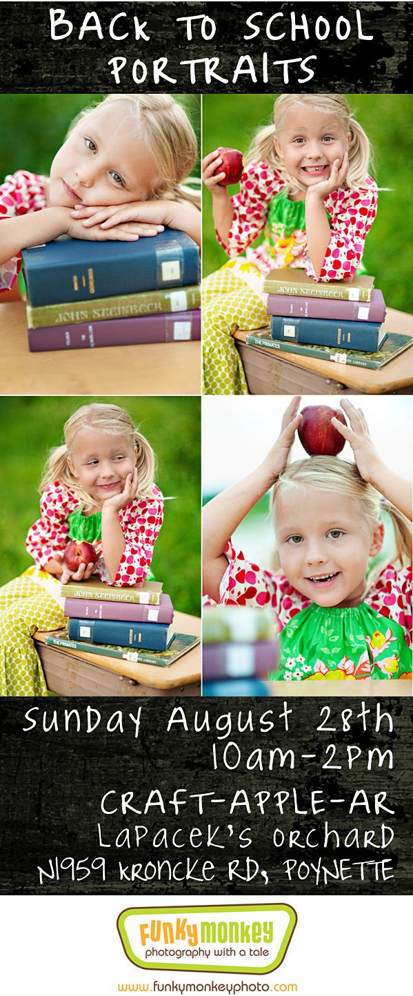 Back to School Mini Portraits Sessions 2011 Poynette, WI By Funky Monkey Photography Madison WI
