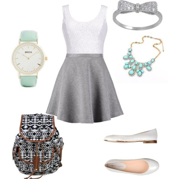 school outfit #5 by paty-porutiu on Polyvore featuring polyvore fashion style Thalia Sodi Tiger of Sweden Carlo Pazolini Breda