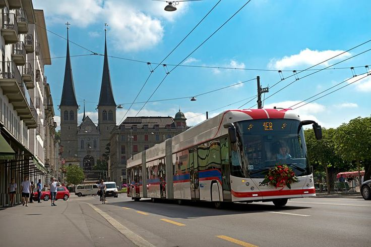 Verkehrsbetriebe Luzern vbl [Hess LighTram Trolleybus version in Switzerland]