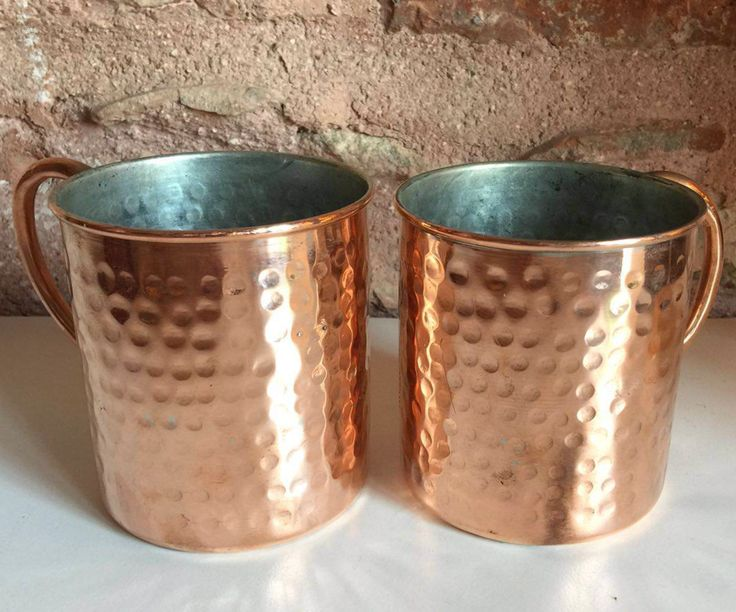 HANDMADE COPPER MOSCOW MULE SET OF TWO, STOUP SET
