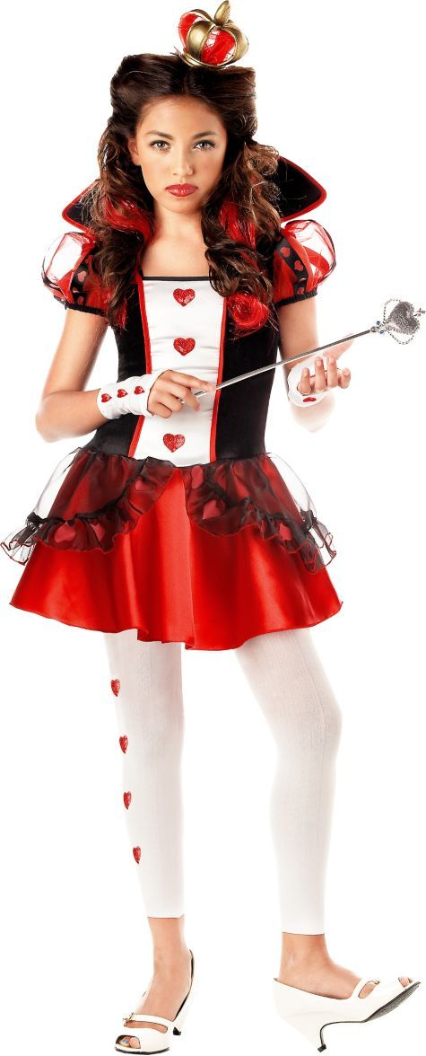 Teen Girls Queen of Hearts Costume - Valentines Day Costumes - Valentines Day - Holiday Parties ...