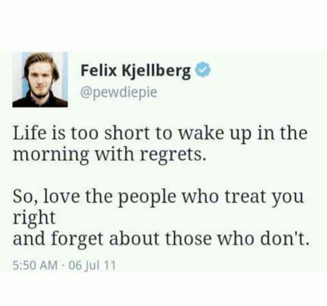 Felix Kjellberg (Pewdiepie) quote.