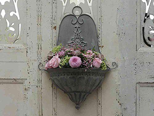Great Altfranz sischer Wandaufhang Blumentopf Wand Wohnen Dekoration Garten Terrasse und Au endekoration