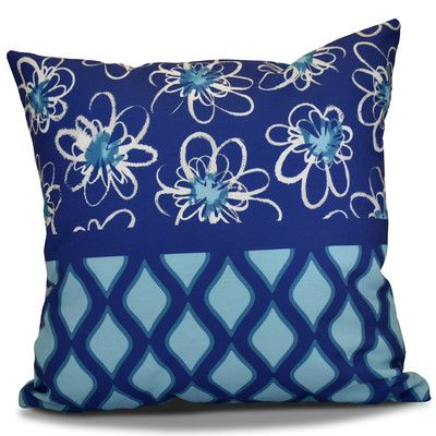 """The Holiday Aisle Hanukkah 2016 Decorative Holiday Geometric Outdoor Throw Pillow Size: 16"""" H x 16"""" W x 2"""" D, Color: Light Blue"""