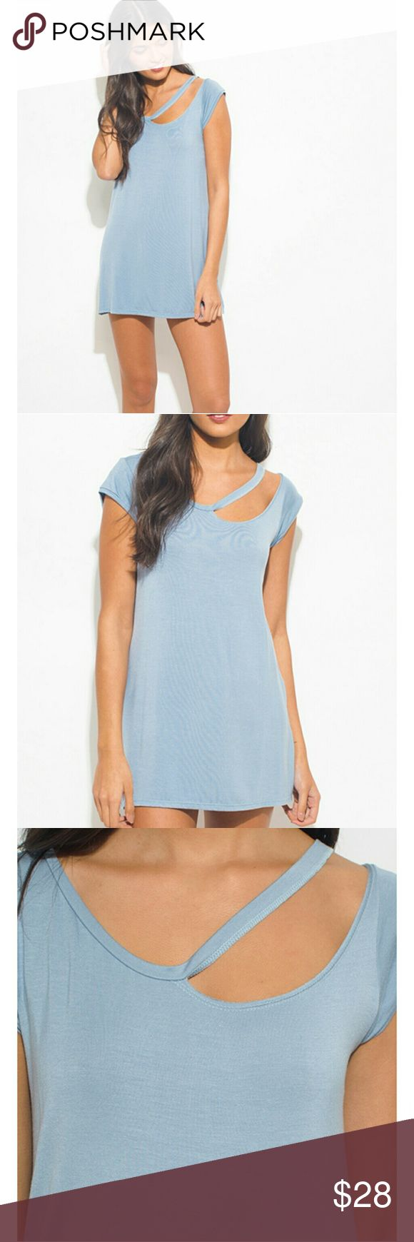 Light blue mini dress Super cute mini dress! Great for summer and spring. Item is what is in picture. Dresses Mini