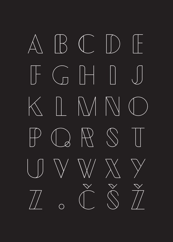 """Typometry"" free font by Emil Kozole, via Behance."