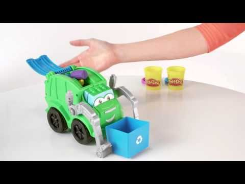 Hasbro   Play Doh   Trash Tossin' Rowdy the Garbage Truck - YouTube