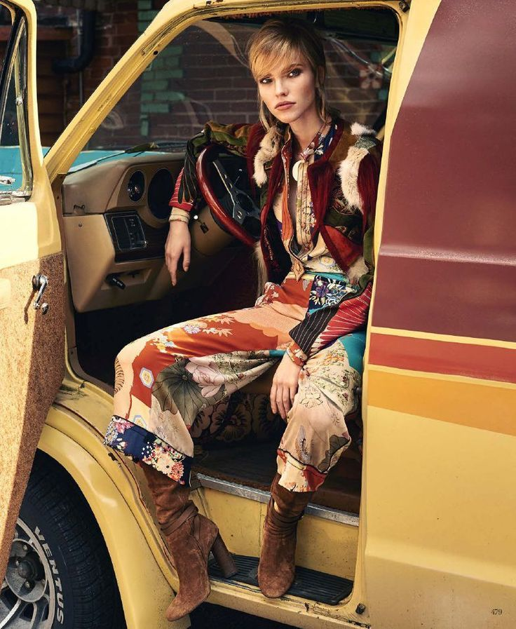 The New Bohemian: Sasha Luss by Terry Richardson for Harper's Bazaar US March 2015 - Gucci