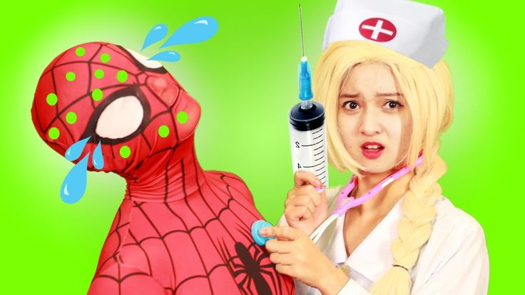 Spiderman and Frozen Elsa Nurse vs Maleficent Prank w  Anna Captain! Fun...