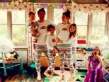 Haha the whole family in Jools PJ's ...I can't believe Mother Care actually mad me a pair of her toddler Jim-Jams !! Very funny if not slightly strange. Although one little purple princes had hers in the wash & wasn't very happy bless her .......big love to all you guys #jamie x x. X x xx x x.
