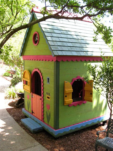 5154 best fun funky playhouses and tiny homes images on for Whimsical playhouse blueprints