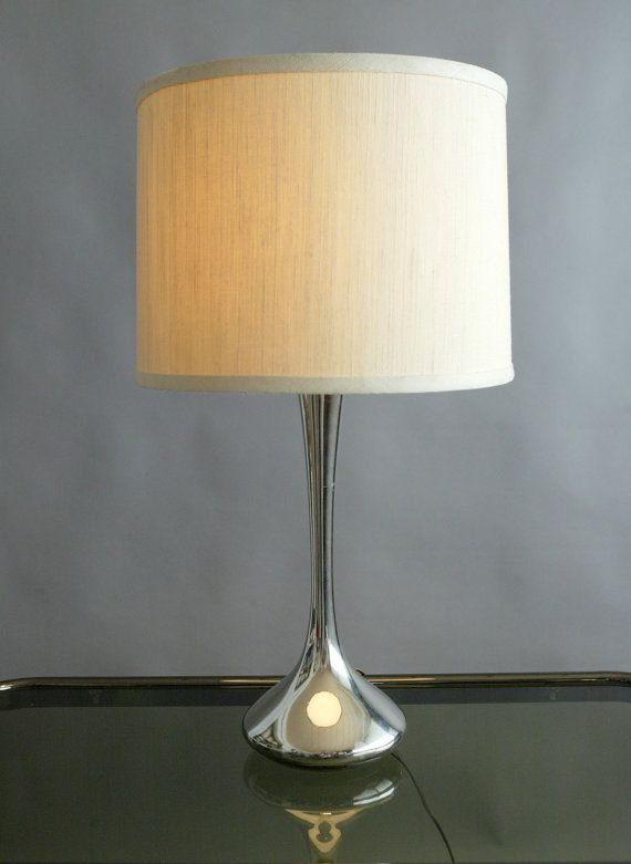 Vintage Chrome Laurel Lamp Tulip Base Table Top By InteriorContent, $150.00