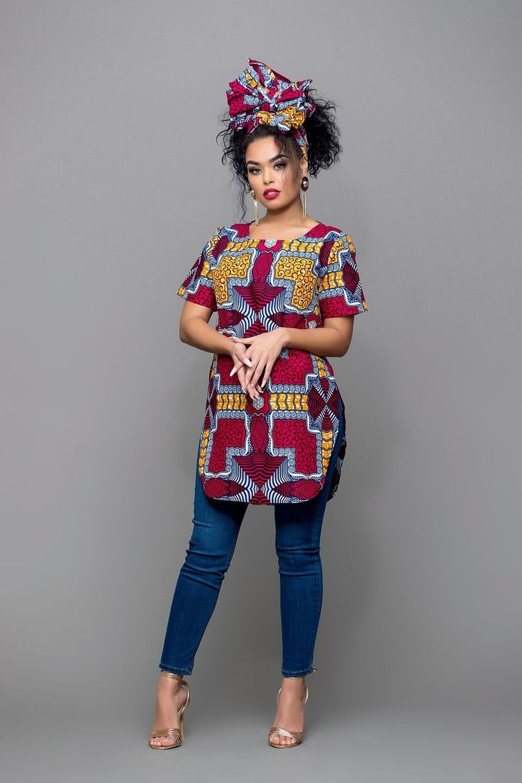 African Print Nesse Top
