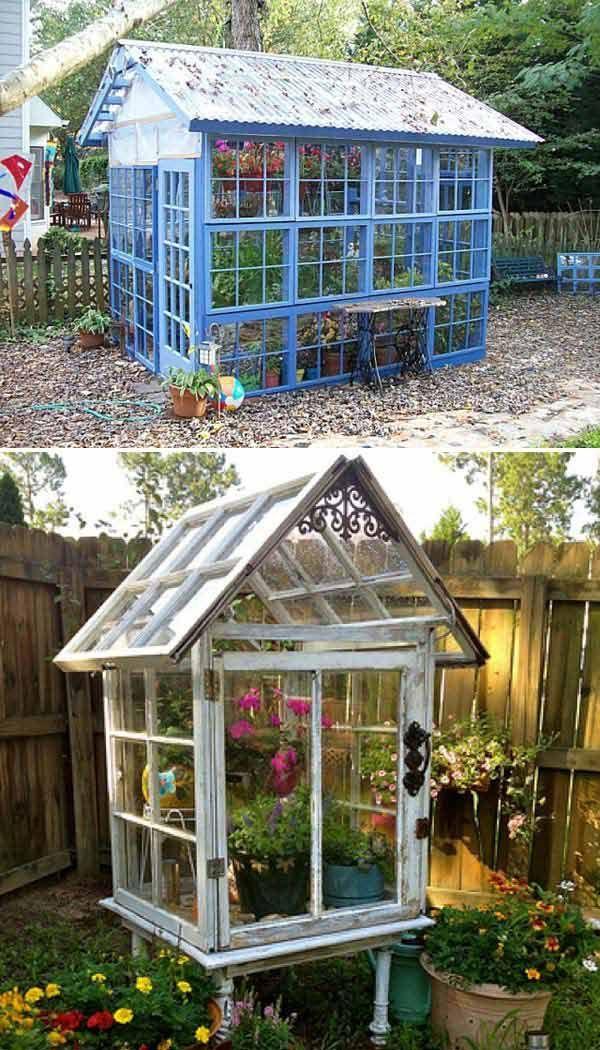 Best Build A Greenhouse Ideas On Pinterest Diy Greenhouse - Build small greenhouse with old windows