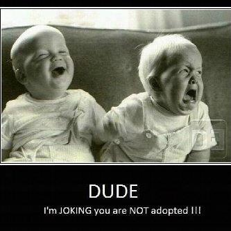LOL: Twin, Sisters, Jokes, Funny Stuff, Baby Faces, Kids, Funny Baby, So Funny, Funnystuff