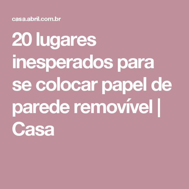 20 lugares inesperados para se colocar papel de parede removível | Casa
