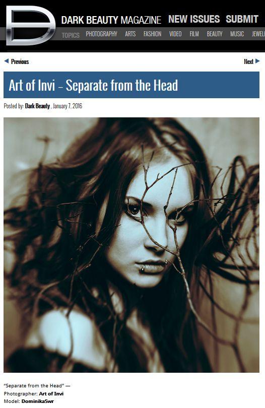 Dark Beauty Magazine publication Joanna Jankowska/Artofinvi art of invi