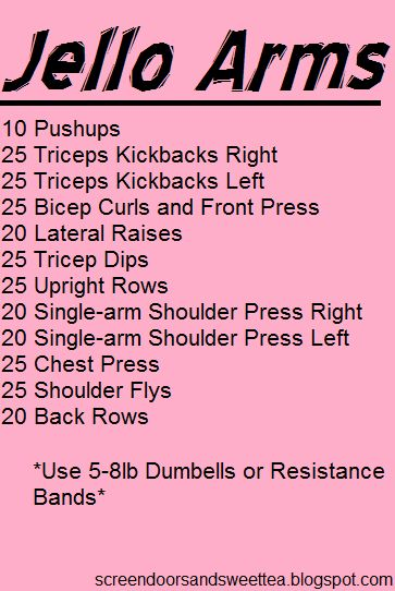 Arm Workout that will absolutely give you Jello Arms.